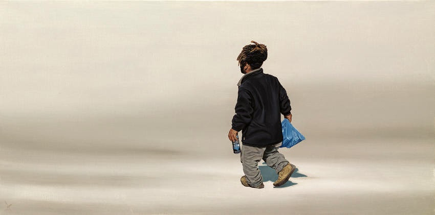 14-Packed-Lunch-Nigel-Cox-Photo-realistic-Minimalism-in-Surreal-Paintings-www-designstack-co