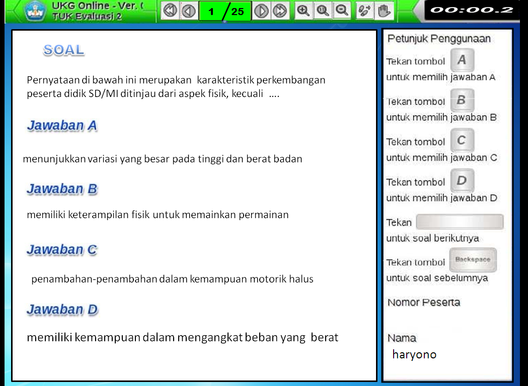 Quot Aplikasi Ukg Versi Online Quot Terbaru Sd Negeri 1 Asemrudung