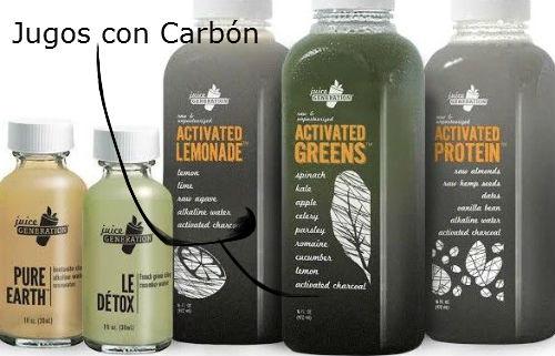 jugos con carbon activado