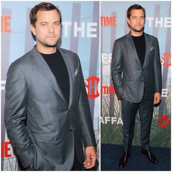 JOSHUA JACKSON WEARS ERMENEGILDO ZEGNA GREY SUIT TO New York PREMIERE OF THE AFFAIR
