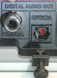 Ejemplo conexión óptica (toslink) y coaxial digital (spdif)