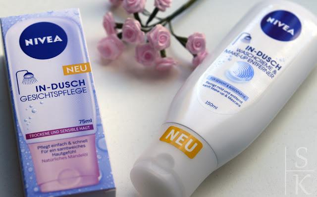 Nivea - In-Dusch Waschcreme und Make-Up Entferner und In-Dusch Gesichtspflege für trockene und sensible Haut