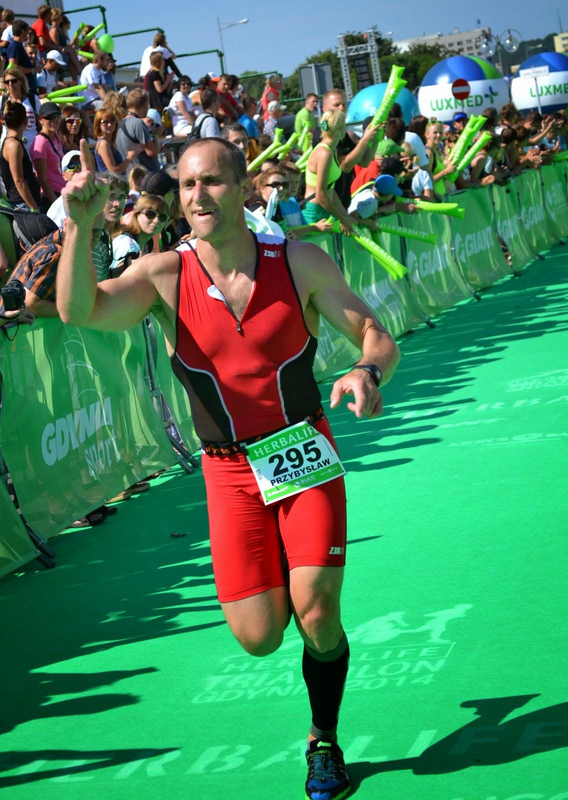 triathlon, sport, trening, SKF Boksing Zielona Góra, Przybysław Połoński, Dworcowa, Herbalife, Gdynia, 2014 r. bieg, rower, pływanie