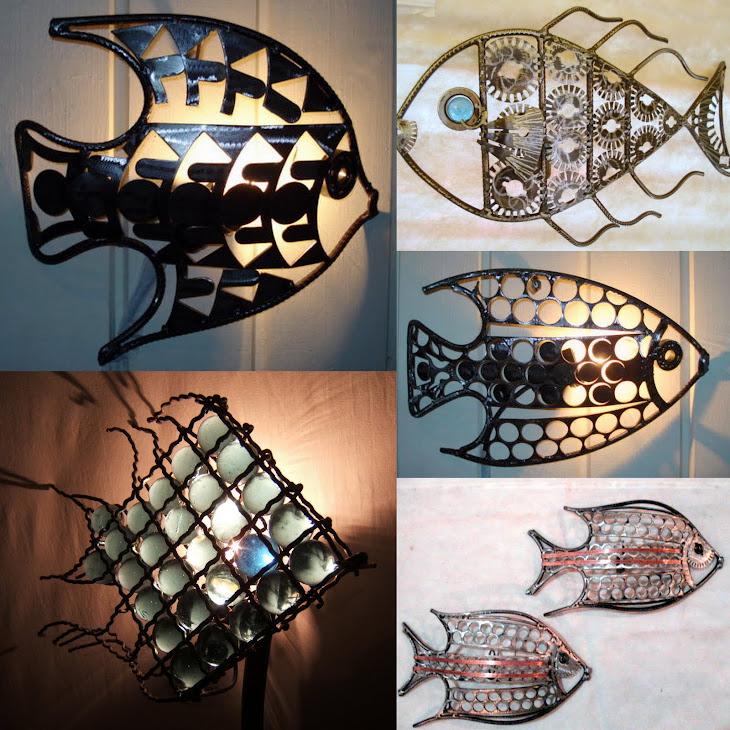 Luminárias peixe