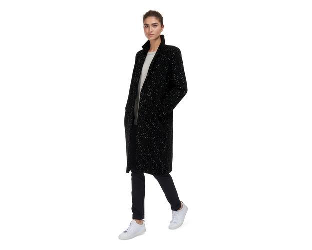 whistles speckle coat, speckled black coat,