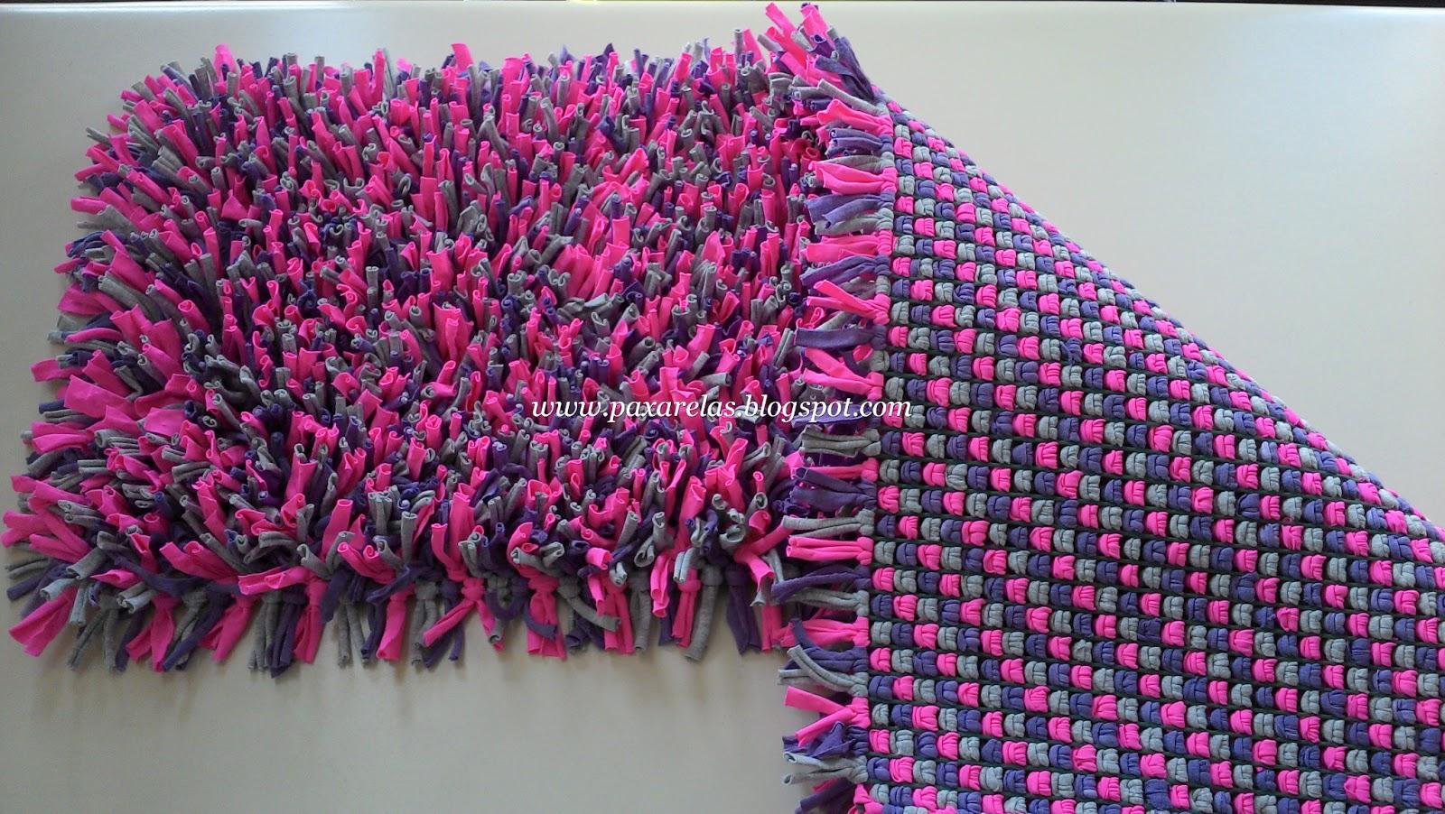 Alfombra eliana con rosado for Tejidos de alfombras