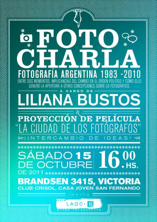 flyer Liliana Bustos