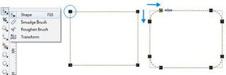 membuat kreasi rectangle tool