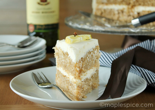 Hot Toddy Layer Cake - vegan.