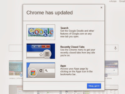 Update New Look Google Chrome Tab