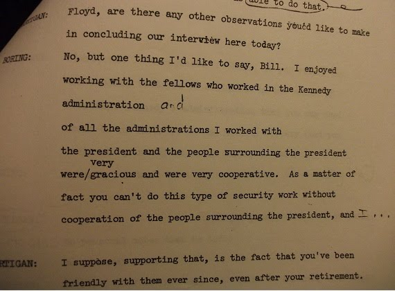 From Floyd Boring's 1976 JFK Library Oral History, released only in the late 1990's via my help!