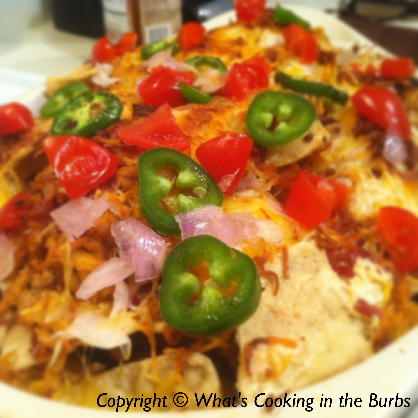What's Cooking in the Burbs: Loaded BBQ Chicken Nachos
