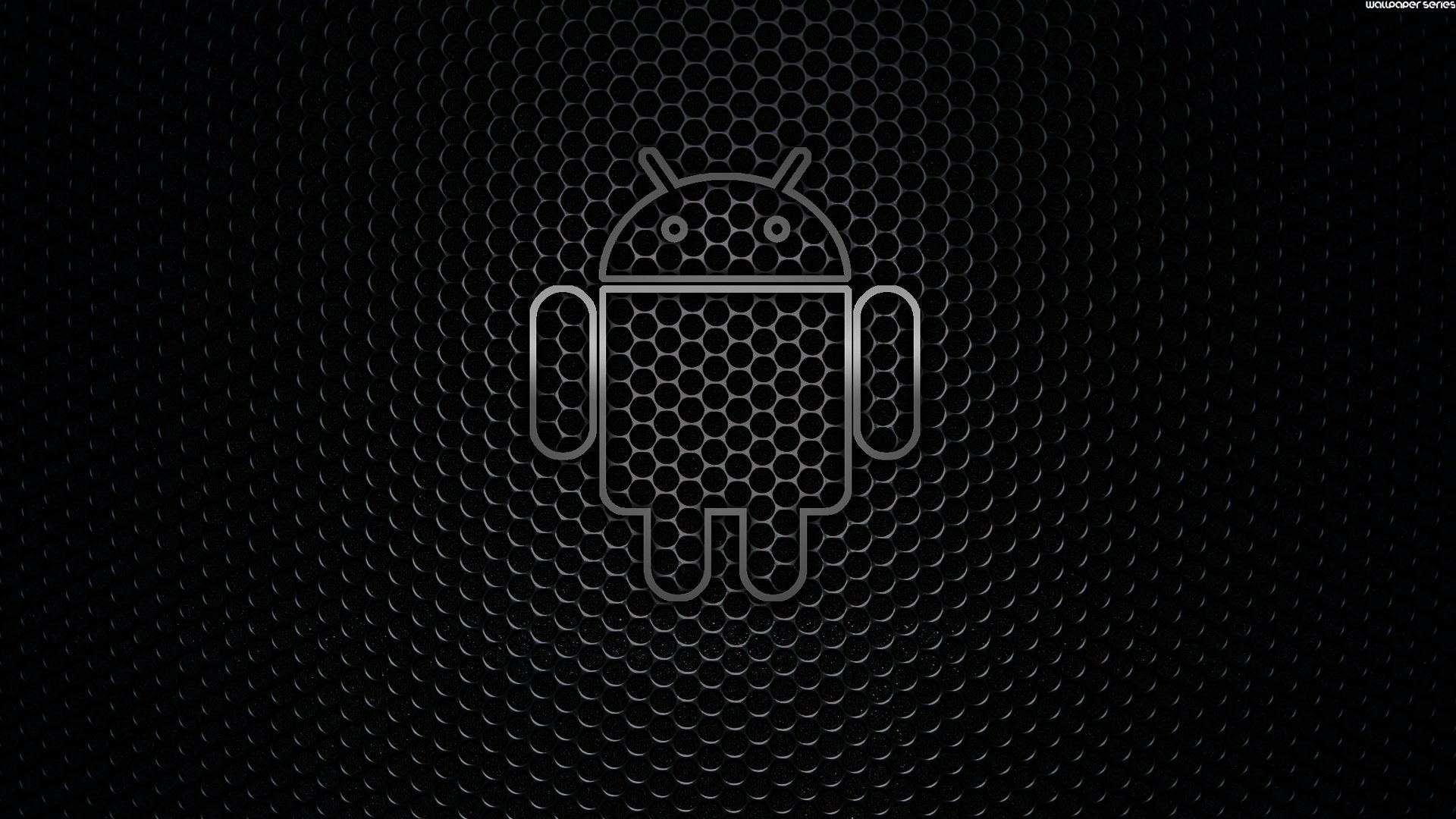 Logo android negro full hd en fondos 1080 for Sfondo nero hd