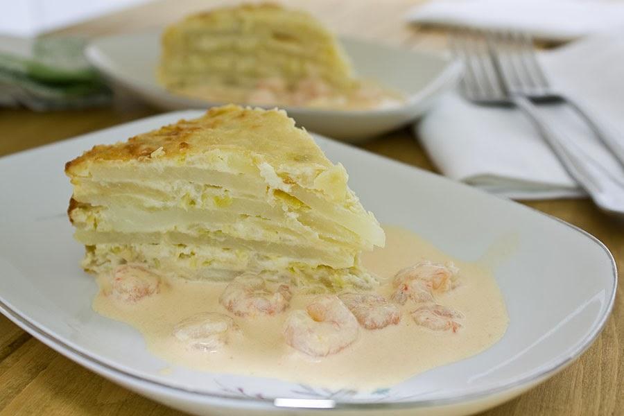 E cocinablog gratinado de patata y puerro - Gratinado de patata ...