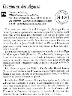 Domaine des Agates dans le Jean-Pierre Coffe - Mes vins préférés à moins de 10€ - 2004