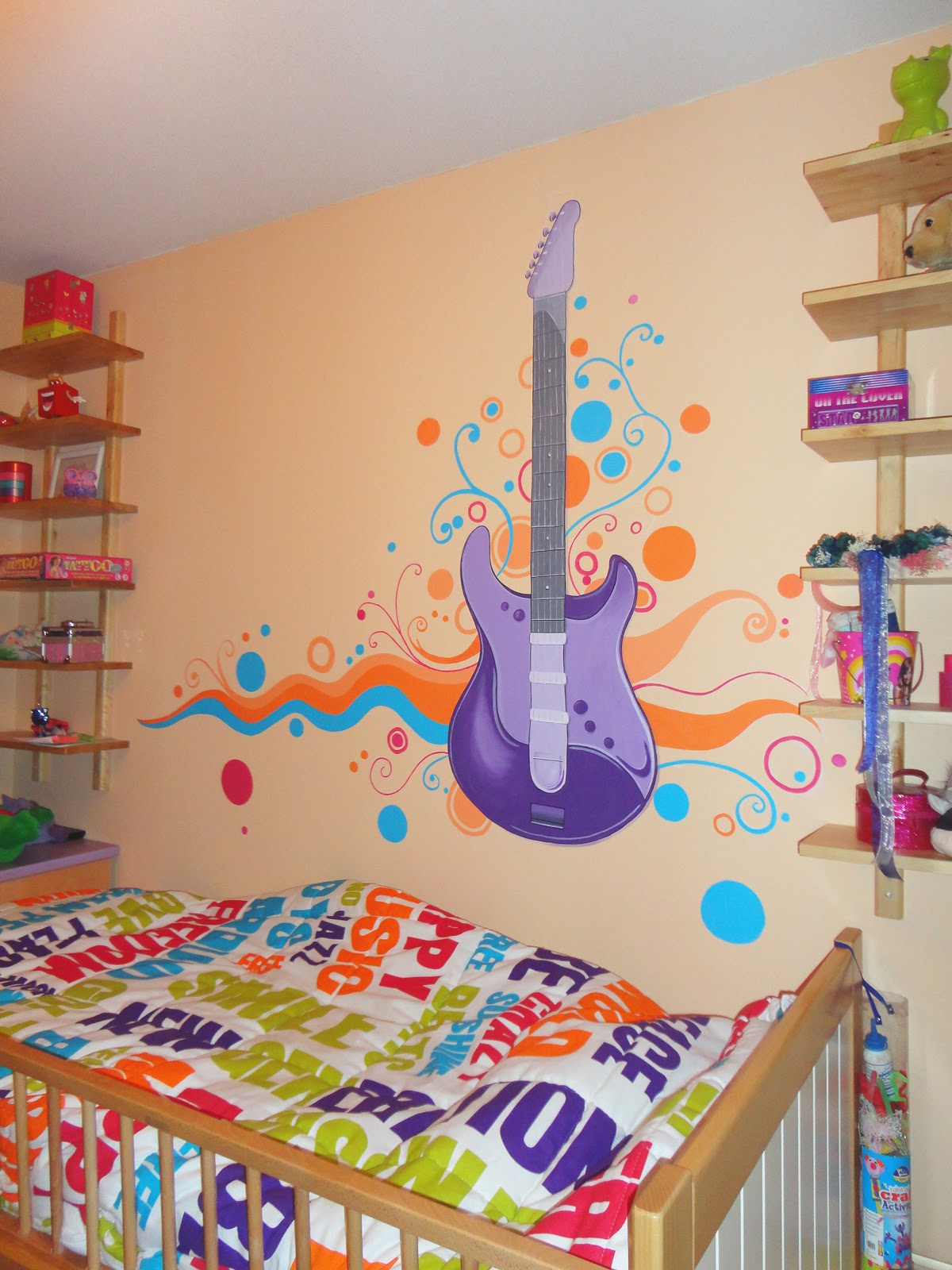 Decopared mural guitarra - Mural pared infantil ...