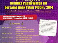 Majlis Berbuka Puasa Warga TM Bersama Anak Yatim 11 Ramadhan 1435H