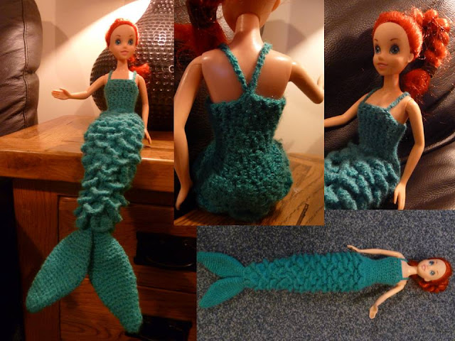 Free Knitting Pattern For Mermaid Doll : Keeping Mama Sanchez busy...: A demure mermaid dress =)