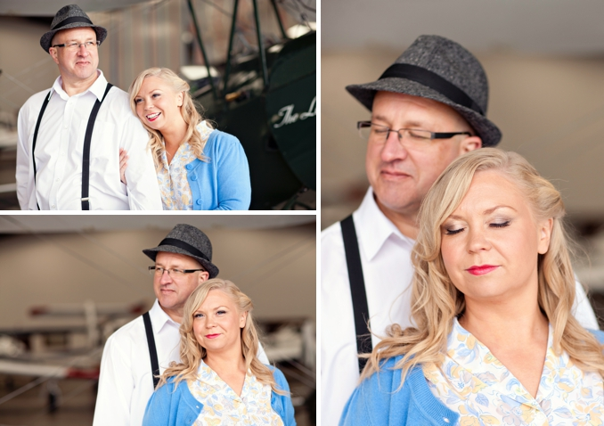 vintage airplane styled engagement shoot by STUDIO 1208