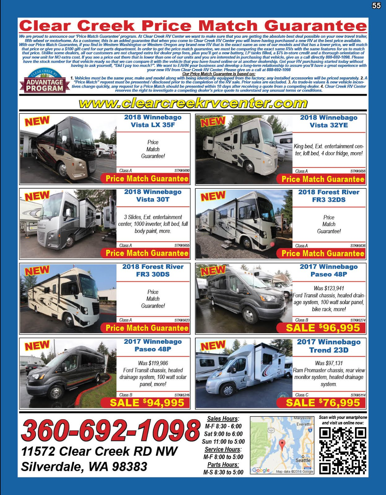 Clear Creek RV Center Pre-Owned Inventory Sale!!