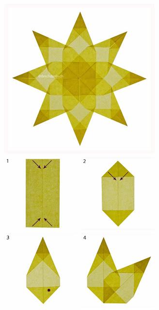 Origami maniacs origami sun catchers - Stern falten anleitung kindergarten ...
