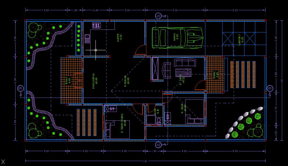 denah rumah sederhana type 90m2