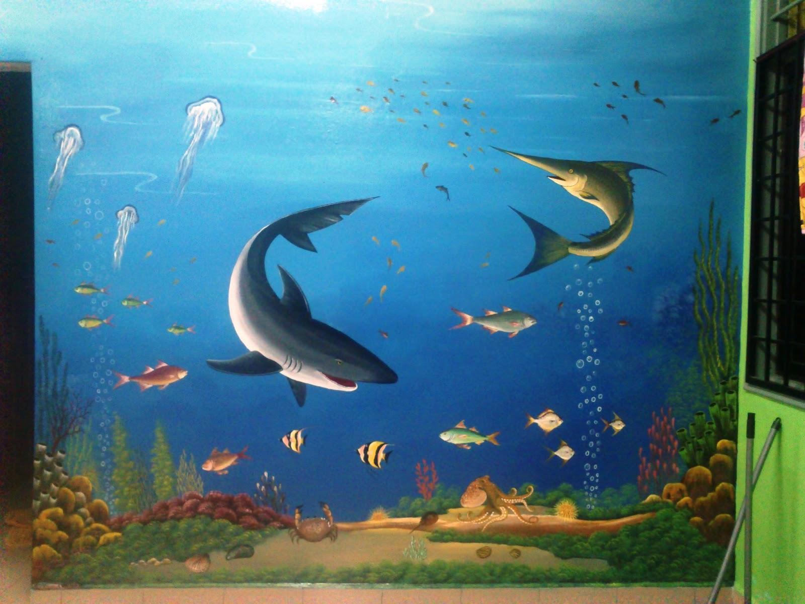 Mural art cetusan idea sample image mural marine life for Mural hidupan laut