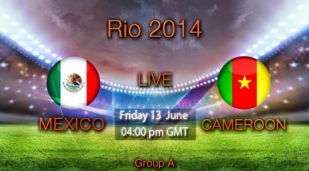 القنوات الناقلة لمباراة المكسيك والكاميرون بث مباشر الجمعة 13-6-2014