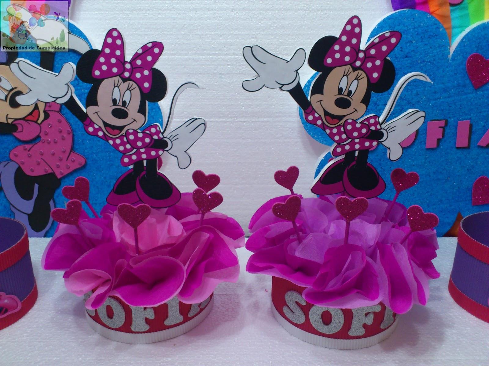 Decoraciones infantiles pack minnie en rosa - Decoracion fiesta rosa ...
