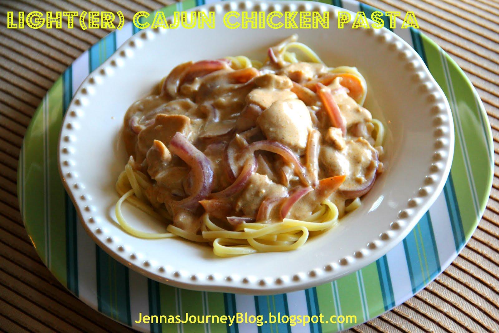 Jenna Blogs: Light(er) Cajun Chicken Pasta