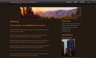 home page of www.peterhobden.com
