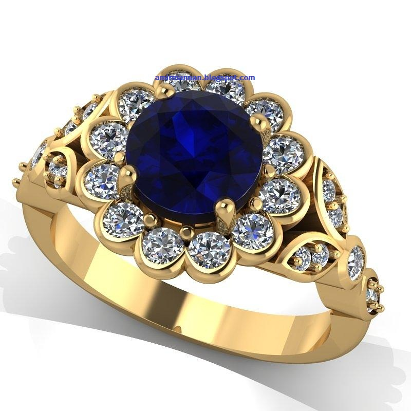 Sapphire Fashion Ring ~ Fashion Jewellery