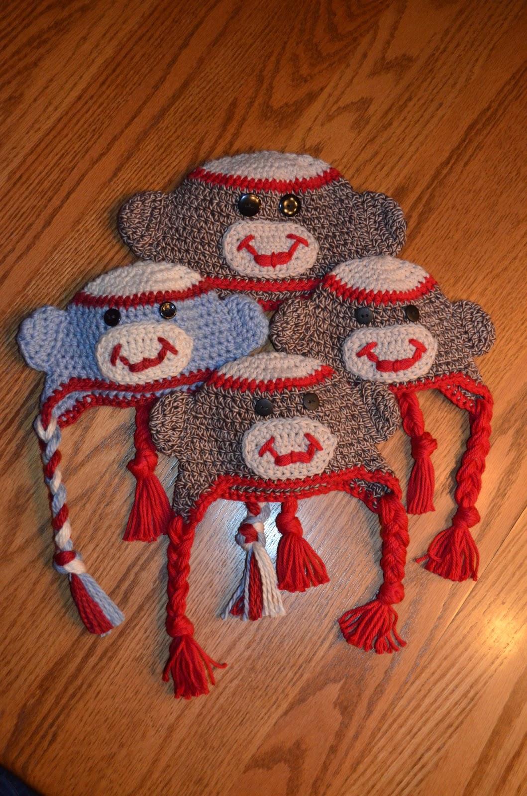 Free crochet patterns free crochet patterns baby hats and beanies free crochet sock monkey pattern bankloansurffo Images