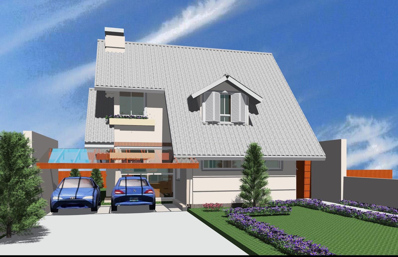 Casa frente modelo imoveis cultura mix muro casas modernas for Modelos de casas modernas