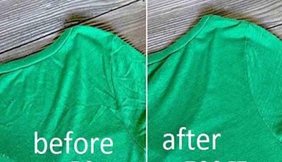 Hasil sebelum dan sesudah pakaian dirapikan