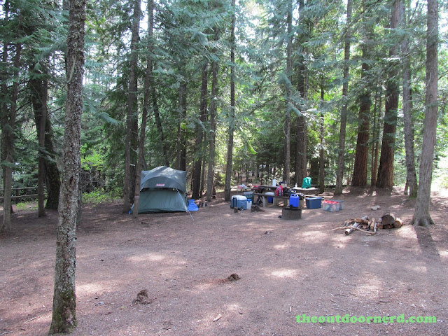 Outlet Campgrounds At Priest Lake, Idaho: View Of Site 14