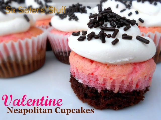 valentines day neapolitan cupcakes recipe six sisters stuff