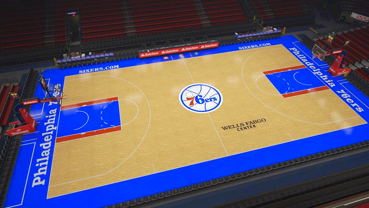 76ers new court in NBA 2K15