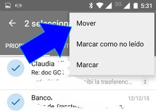 Como Archivar y mover correos desde App Movil Outlook