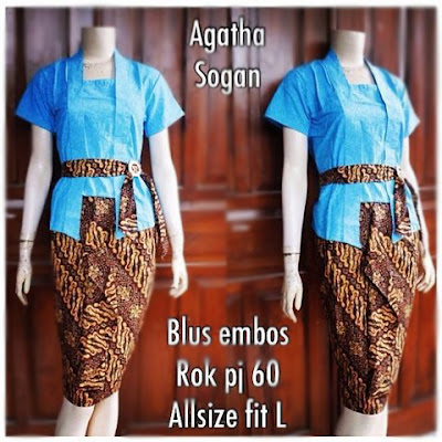 Kebaya Batik Sogan Agatha Db-5307