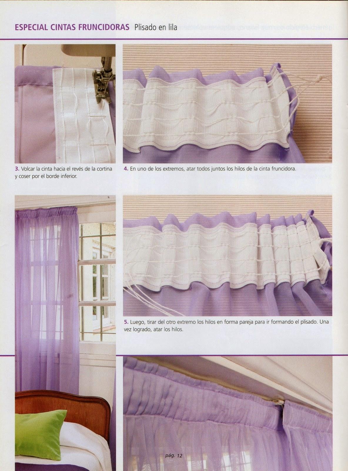 Como hacer cortinas paso a paso revistas de manualidades for Como hacer una cortina para exterior