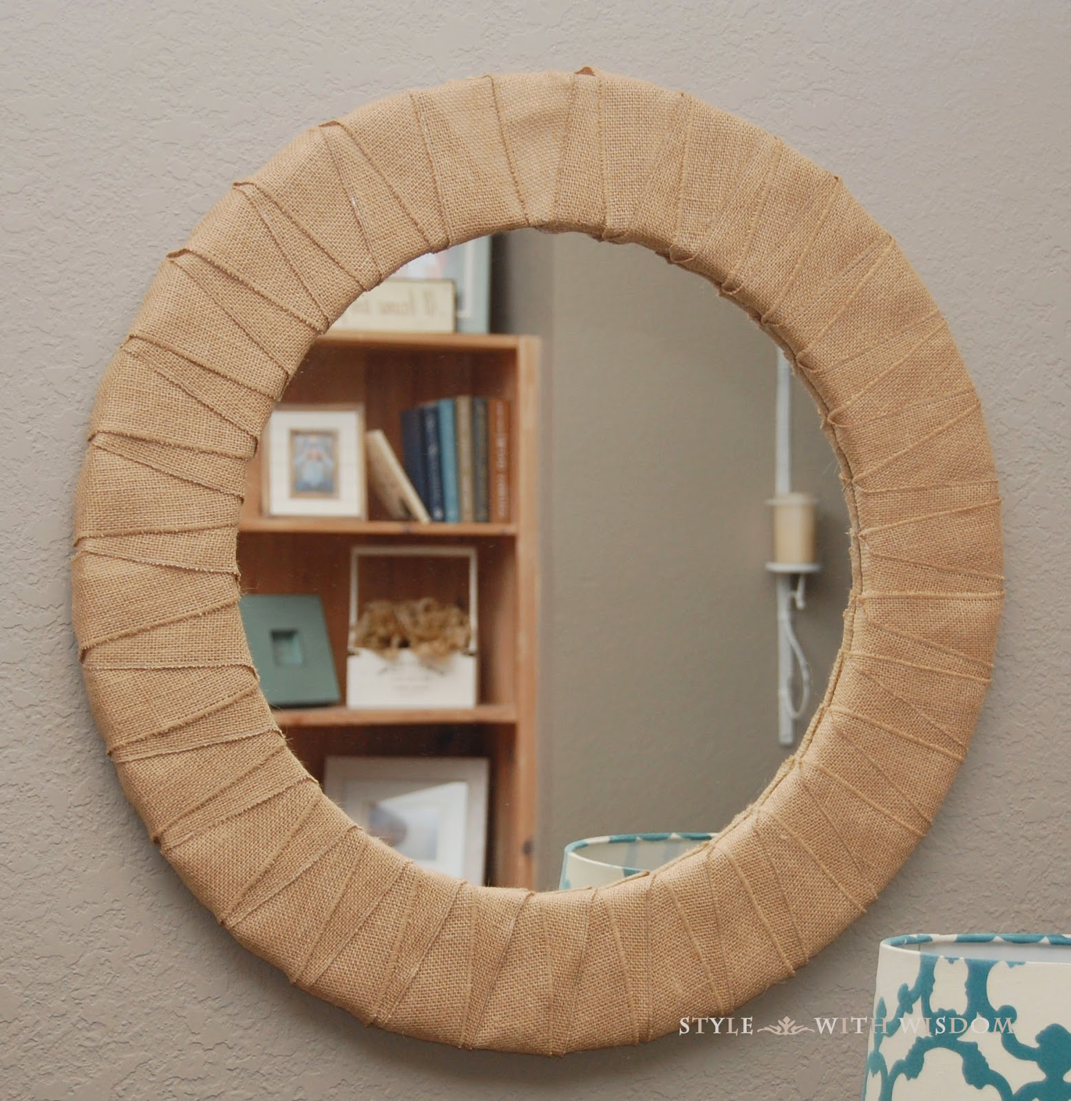 DIY Mirror Makeover Burlap