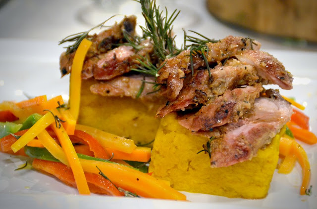 Marinated Roast Pork Lomo with Mashed Yellow Pumpkin Recipe
