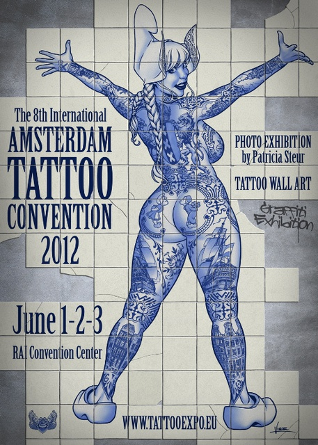 Exploriment amsterdam tattoo convention posters for Amsterdam tattoo artists