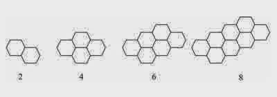 pola bilangan matematika - pola heksagonal