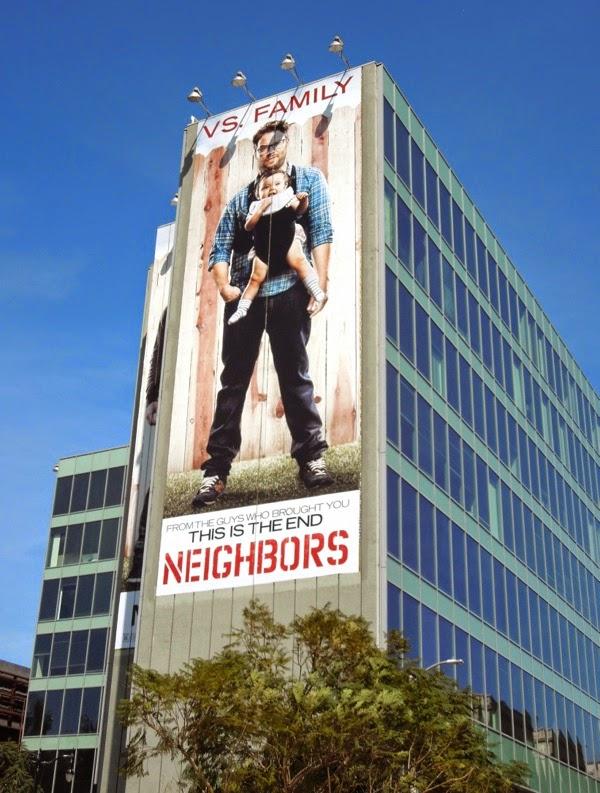 Giant Seth Rogen Neighbors movie billboard