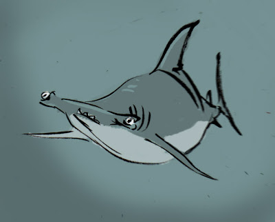 sharky malarkey longnose sawshark shark week sketch jam day 3