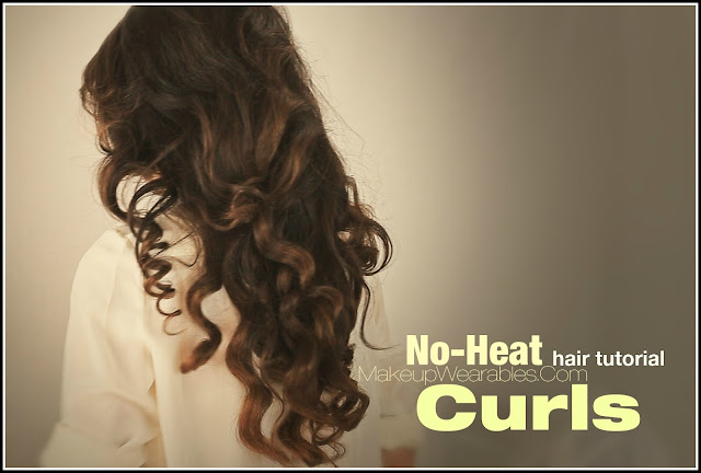 How to big, soft, no-heat curls for medium long hair tutorial video | heatless curly wavy hairstyles hairdos |everyday wedding prom