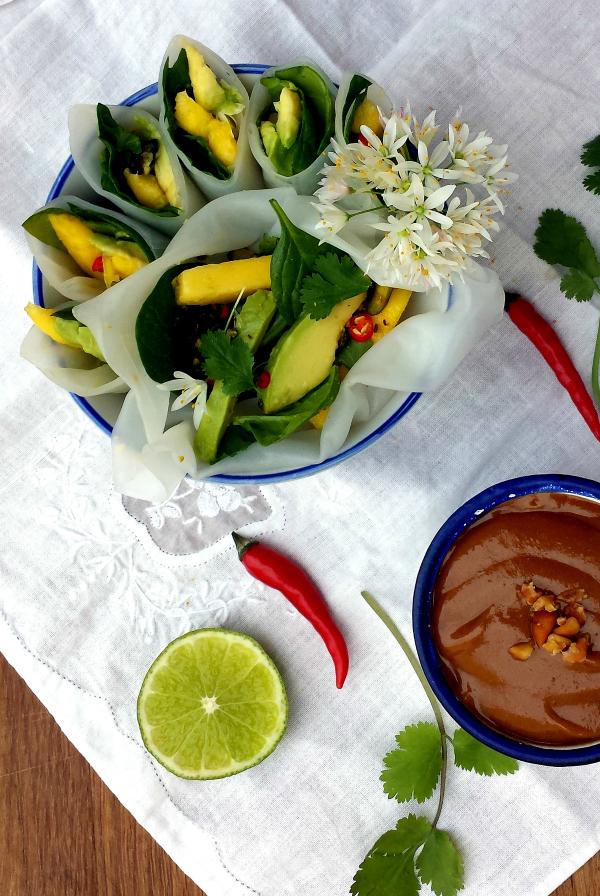 Sugg-r and some Salt: rollitos vietnamitas de aguacate y mango {con ...