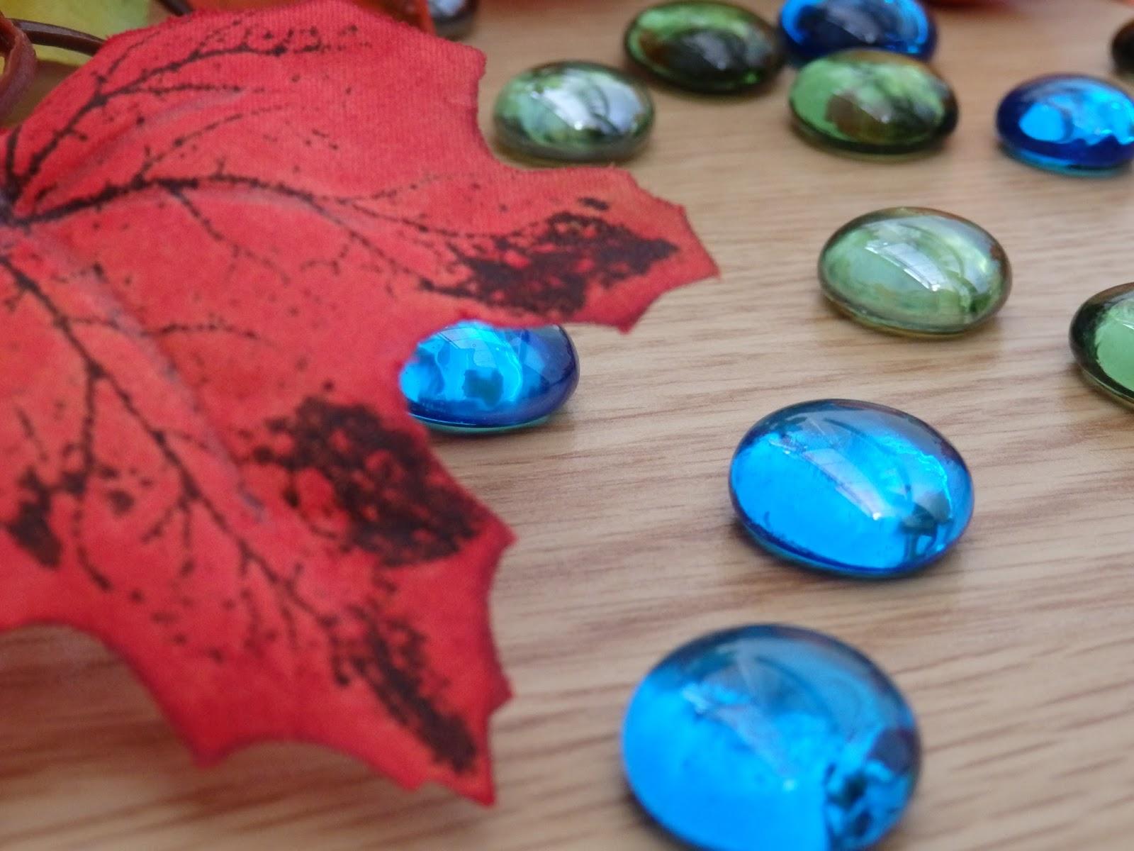 камни, листья, осень, handmade